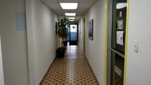 Brampton training facility hallway: