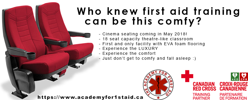 18 Seat Capacity theatre like classroom First Aid Training