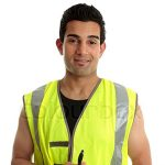 2806515-a-male-construction-worker-or-other-labourer-holding-a-book-and-penhe-is-looking-up-and-smiling